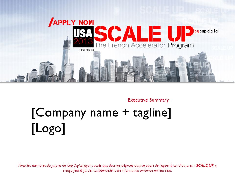 [Company name + tagline] [Logo]
